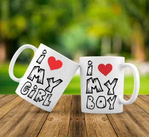 Cana personalizata - I love My Boy/Girl0
