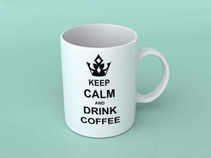 Cana personalizata - Keep calm and drink coffe 10