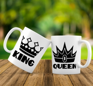 Cana personalizata - King and Queen 20