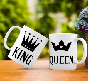 Cana personalizata - King and Queen0