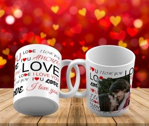 Cana personalizata - Love cu poza0