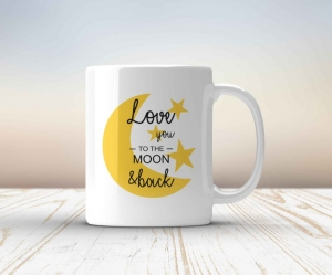 Cana personalizata - Love you to the moon and back0