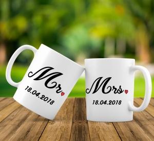 Cana personalizata - Mr and Mrs [0]