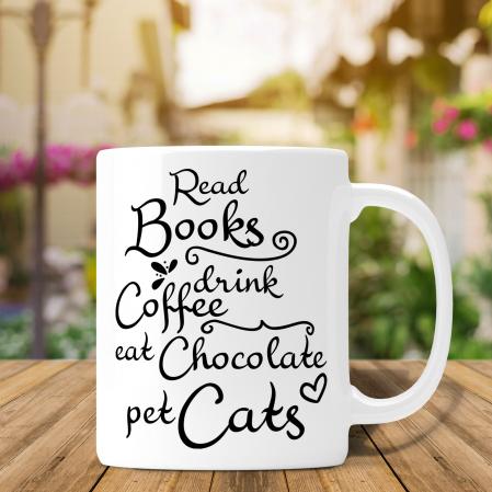 Cana Personalizata - Read Books Drink Coffee [0]