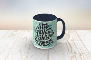 Cana personalizata - Stop Talking Start Doing [0]
