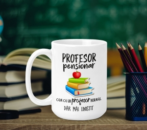 Cana Personalizata - Profesor Pensionar0