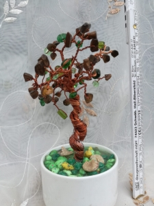 Copacel decorativ Feng Shui M23 - Pietre Semipretioase - Ochi de Pisica [0]