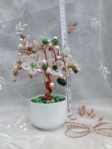 Flori decorative din margele M28 - Margele de nisip sau sticla si Aquamarin0