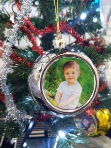 Glob Pentru Brad Cu Poza - Argintiu 8cm Sublimabil [3]