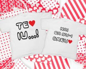 Tricouri Cuplu Personalizate - Te iubesc [2]