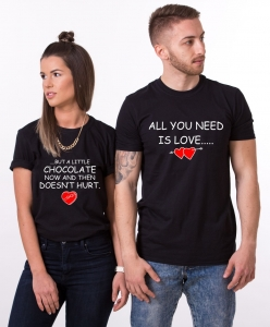 Tricouri Cuplu Personalizate - All you need is Love and Chocolate1