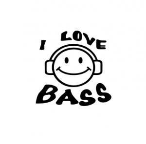 Sticker Auto - I Love Bass0