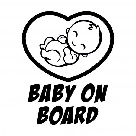 Sticker auto -  BABY ON BOARD [0]
