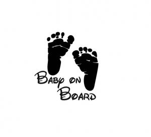 Sticker Auto - Baby On Board Picioruse0
