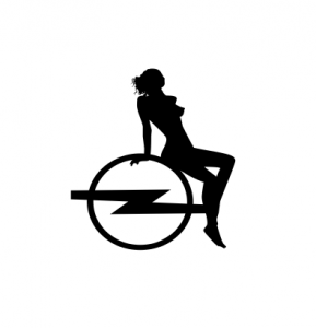 Sticker Auto - Opel Woman0