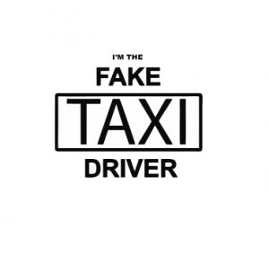 Sticker Auto - I'm The Fake Taxi Driver1