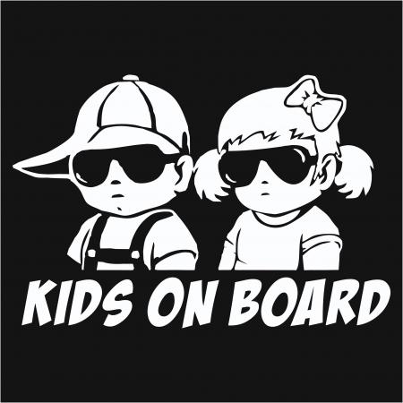 Sticker auto - Kids on board [0]