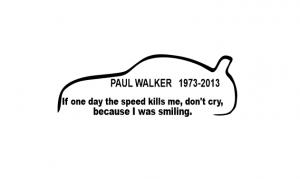 Sticker Auto - Paul Walker [0]