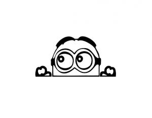 Sticker Auto - Peeking Minion0