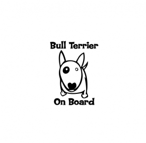 Sticker Auto - Bull Terrier On Board0
