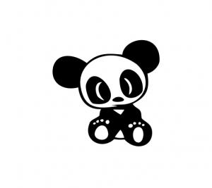 Sticker Auto - Panda 20