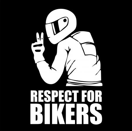 Sticker Auto - Respect for bikers 2 [1]