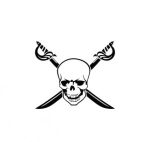 Sticker Auto - Skull Sabie0