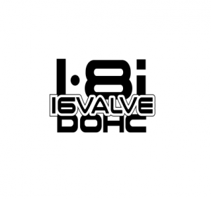 Sticker Auto - 1.8 I 16 Valve Dohc0