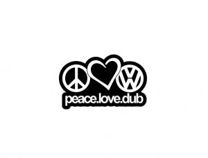 Sticker Auto - Peace Love Dub [0]
