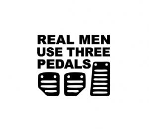 Sticker Auto - Real Men Use Three Pedals0
