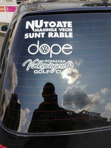 Sticker auto VW Golf Club Romania2