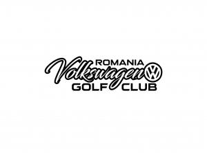 Sticker auto VW Golf Club Romania0