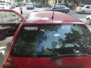 Sticker auto VW Golf Club Romania1