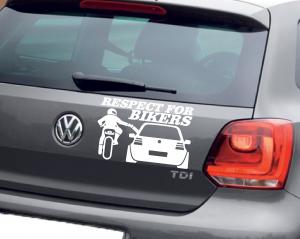 Sticker Auto - Respect for Bikers0