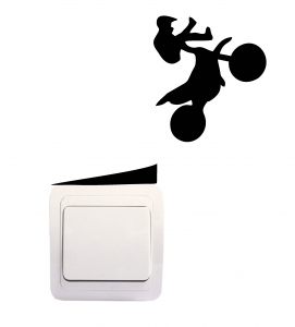 Sticker Decorativ Intrerupator - Motociclist0