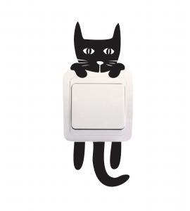 Sticker Decorativ Intrerupator - Pisica 30