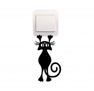 Sticker Decorativ Intrerupator - Pisica 40