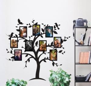 Sticker Rama Foto Copac cu Pasari0
