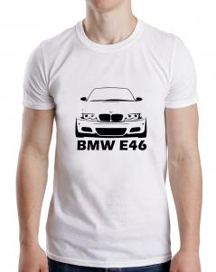 Tricou Auto Personalizat - BMW E46 cu nume sau numar0