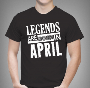 Tricou - Legends are born in0