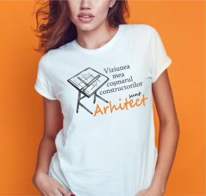 Tricou Personalizat - Arhitect, Cosmarul Constructorilor0