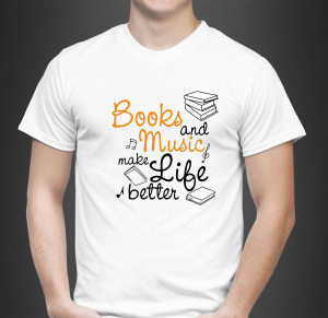 Tricou Personalizat - Books And Music0