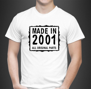 Tricou Personalizat - Born in ... All original parts0