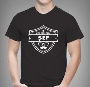 Tricou Personalizat - Cel Mai Bun Sef0