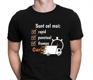 Tricou Personalizat - Cel Mai Rapid, Frumos Si Punctual Curier0