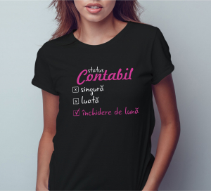 Tricou Personalizat Contabil - Inchidere De Luna0
