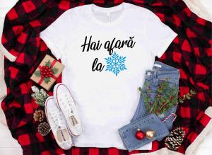 Tricou Personalizat Craciun - Hai Afara La Zapada0