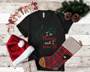 Tricou Personalizat Craciun - Ițm Merry And I Know It1
