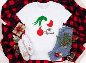 Tricou Personalizat Craciun - Pfff Christmas Grinch1