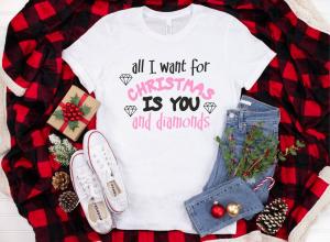 Tricou Personalizat Craciun - You And Diamonds1